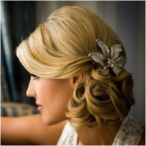 Side Wedding Hairstyles: Unique Wedding Hairstyle For Medium Hair